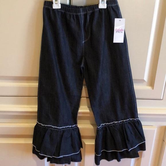Natalie Grant Bottoms Nwt Girls Ruffle Denim Pants Poshmark